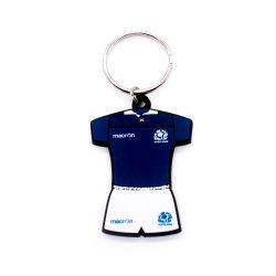 Chaîne de clés d'EVA Sport cadeau souvenir de l'artisanat de la conception d'alimentation en caoutchouc souple de diamant
