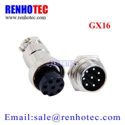 M16 8p el conector de cable circular metal GX16 macho y hembra de la aviación