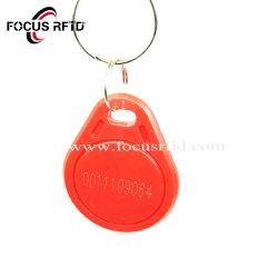 ABS de alta calidad de llavero RFID Smart Mini disco láser Tag con número UID
