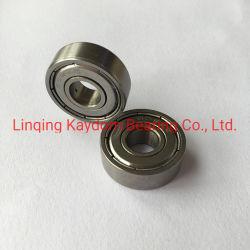 Miniature en acier au carbone le roulement à billes à gorge profonde 608ZZ pour l'arrêt du rouleau de porte ou fenêtre de rails de coulissement