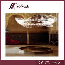 Projecto delicada Alumium lustre de cristal Lâmpada para estrelas hotéis (121792)