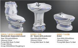 Suites colorées en céramique décoratives de luxe de la salle de bains 3PCS