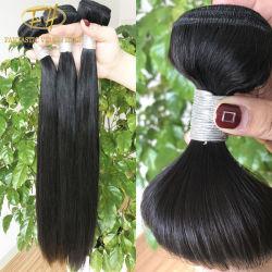Commerce de gros 100% non transformés Virgin/Remy brésilien/Cheveux humains indiens en soie droites avec prix Facroty