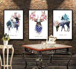 Paredes decorativas Elk Alpendre Pintura Quarto minimalista moderno de pintura mural Pintura de arte