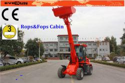 Le ROPS et FOPS ER1500 chargeur télescopique avec fourches à palettes