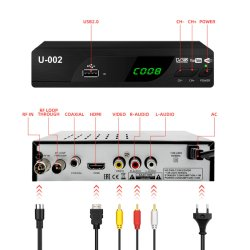 PVR WiFi video de Youtube 1080P HD receptor de TV digital DVB-T2
