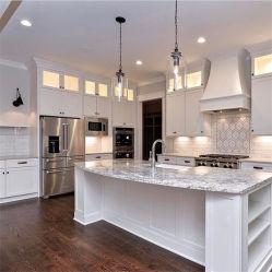 MDF moderno Alto Madeira verniz brilhante personalizado de armários de cozinha