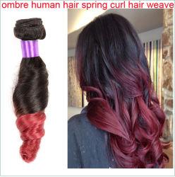 Funmi sèche deux ton ombre Virgin Cheveux humains Roman Curl Tissage de cheveux