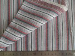Rosso/Grey/carbone di legna Oxford barra il tessuto tinto 100% del filo di cotone 125GSM