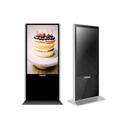 Support de plancher de 43 pouces écrans LCD Affichage de la publicité de signalisation numérique Media Player