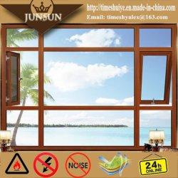 Doppelte glasig-glänzende Windows-Aluminiumneigung und Drehung-Windows-Tür-heißer Verkauf