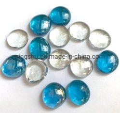 Vidro plano decorativas Pebble nuggets de vidro oval pérolas de vidro opaco para vasos de pedra água decoração de Pavimentação