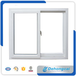 Kundenspezifisches 6mm doppeltes Profil-Plastikflügelfenster-Fenster des Glas-UPVC/PVC/schiebendes Fenster