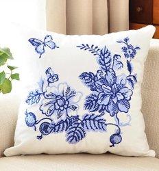 Kissen-Segeltuch-Wolle-Stickerei-Kissen-Deckel-Kissen-Kasten-Blumen-Entwurfs-chinesische nationale Art