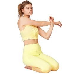 Высокая поясная стыковой поднимите Йога Leggings фитнес одежду брюки для занятий йогой спортзал спортивная одежда