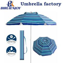 7FT Strong UV Protection Polyester Plage d'inclinaison de l'aluminium Parasol avec sac de transport avec évent