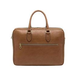 Роскошный кожаный полного заполнения зернового бункера High-end мужская сумки через плечо портфель из натуральной кожи для мужчин