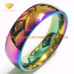 Shinemeの宝石類Duzzleはステンレス鋼のJewellryの卸し売りステンレス鋼のリングSSR1921を着色する