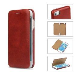 حقيبة من الجلد الأصلي المحبب محفظة الهاتف المحمول لهاتف iPhone 8 بالإضافة إلى ملحقات الهاتف