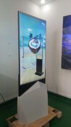 Design ultraplat avec kiosque 55pouces écran Qled pour la publicité