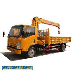 Isuzu japonesa 700p de 4X2 5toneladas Stright grúa sobre camión grúa camión de la pluma del brazo a la venta
