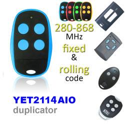 300MHz~868MHz fréquence de balayage automatique portail électrique de porte de garage porte-clé de contrôle à distance encore2114AIO