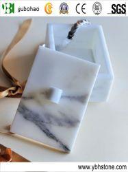 Bianco Carrara/contenitore di monili di marmo bianco