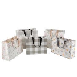 Senhoras reciclado Carrier branco/marrom/preto/verde/Arte/a Kraft/Coated Bag Sacola de Compras de roupas/vestuário/Dom