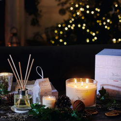 تصنيع حسب الطّلب صويا شمس زجاجيّة مرطبان شمعة لأنّ عيد ميلاد المسيح هبة