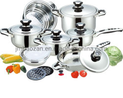 Cottura dell'articolo da cucina stabilito del Cookware dell'acciaio inossidabile di PCS dell'insieme 16