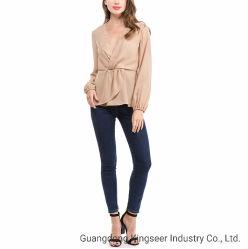 Os novos senhores Fashion blusa tops, Cor pura bom tecido vestuário T Shirt Lazer Verão /outono camisola Polyestert