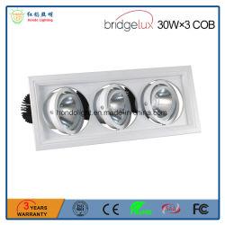 Hoogwaardig Aluminium Drievoudig Heads Square Cob Led Grille Light