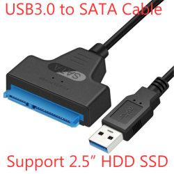 كبل USB لمحول محرك الأقراص الثابتة USB 3.0 إلى 2.5 بوصة SATA إلى محول محرك الأقراص الصلبة SATA