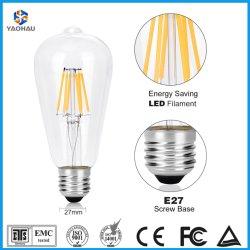 Vintage Edison Ampoule LED ST64 A60 C35 G80 T45 2W 4W 6W 8W LED Flexible en spirale FILAMENT LAMPE décoratifs E27 blanc chaud à base de la vis de 2200K LAMPES D'ÉCLAIRAGE