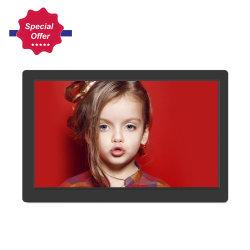 Vídeo HD player 15 polegada Home moldura fotográfica digital com calendário e Relógio de Alarme