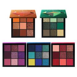 Les styles de paillettes et matte 5Diamond 9 palettes de couleurs Ombre de l'oeil