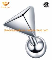 私を高品質のステンレス鋼の宝石類のチタニウムの穿孔&#160照らしなさい; 三角形Labret Tp1954