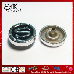 18mm Color chapado de botón Botón Snap de plástico ABS de la parte superior de las prendas de vestir