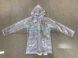 女性ナイロン虹の軽量の屋外の防水ジャケット