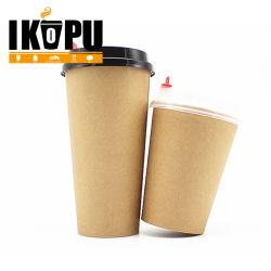 ホットセール飲料ふた付き使い捨てコーヒーペーパーカップカスタマイズ