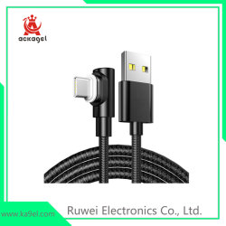 Reproductor de Video Juego de cable de teléfono móvil de ángulo izquierdo teléfono USB cable de datos
