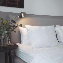 열 Control 3개의 약실 충분한 양 Layers 백색 오리는 아래로 Pillows&#160를 채우는 폴리에스테 깃털을 단다; (YFP0581)