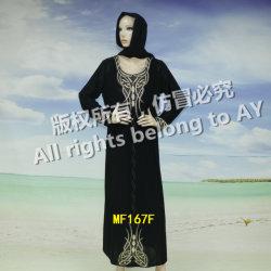 Spitzenverkaufensommer-Moslem-Dame-Abend-Kleid-Afrikaner