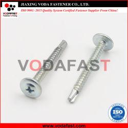 Plano Vodafast Collar cabeza redonda con la oblea de perforación automática el tornillo C1022 Galvanizado