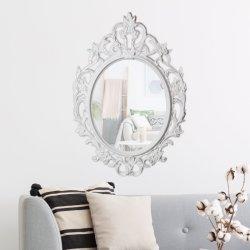 Design de estilo clássico europeu espelho oval de plástico