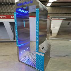 Tunnel de désinfection intégrées pour la mesure de température de la porte de stérilisation et la désinfection porte de sécurité