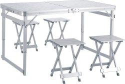 طاولة تخييم 4 أقدام من الألومنيوم طاولة ألعاب طاولة طاولة مكتب خفيف الوزن قابل للضبط طاولة الحفلات متعددة الوظائف