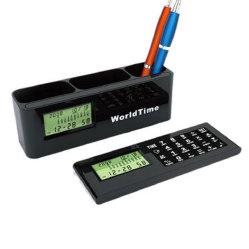 Fördernder LCD Clock mit Penholder