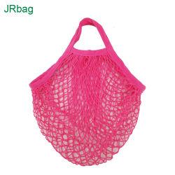 Органический Хлопок Net упаковочный мешок для шариковых фруктов овощей сетка дизайн