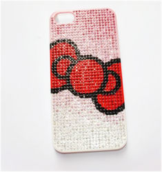 Для iPhone Bowknot Махатиром Rhinestone крышку (МБ1050)